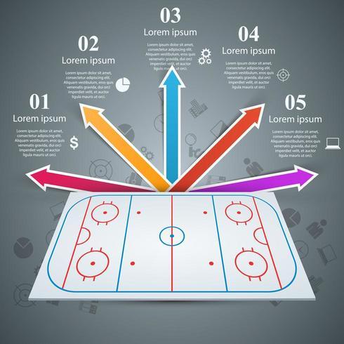 Hockeyfeldschablone - Geschäft infographic.