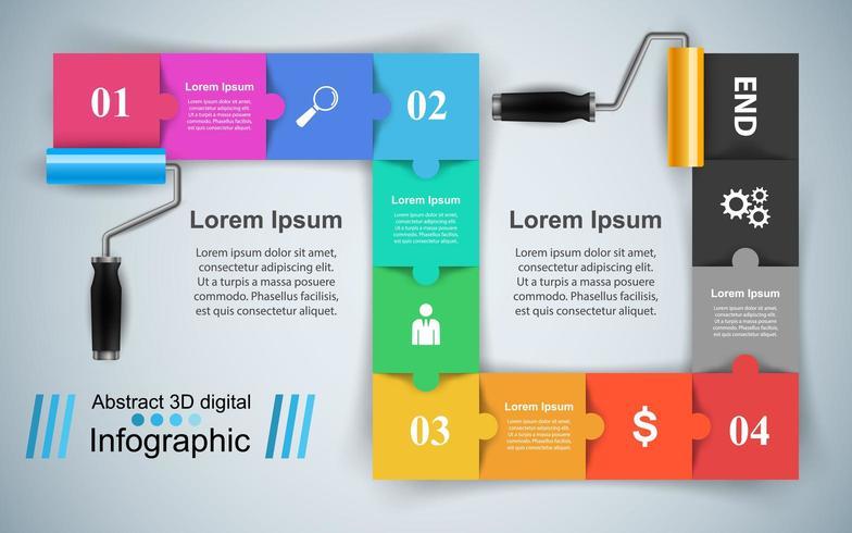 Roller verf pictogram. Zakelijke infographics. vector