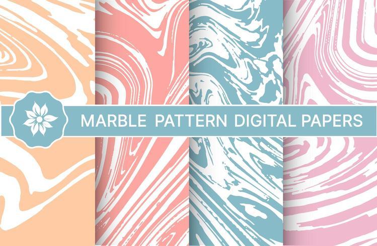 Set van marmeren paarse patronen voor ontwerp vector