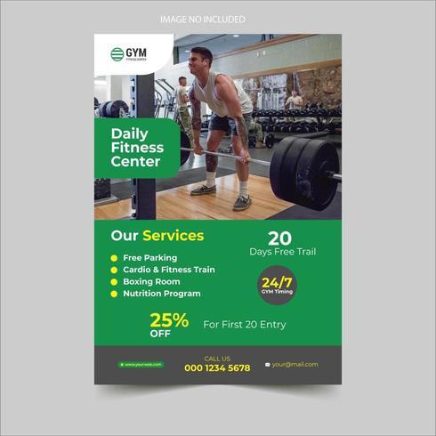 Gym Advertentie Flyer Design vector