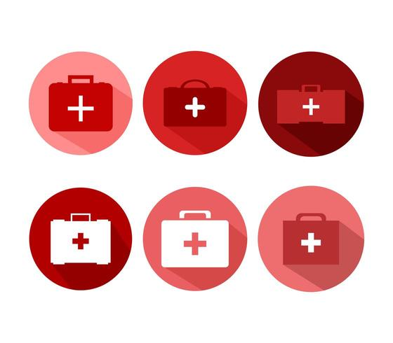Medizinische Koffer Symbole vektor