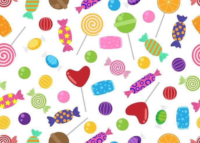 Modèle sans couture de bonbons et bonbons