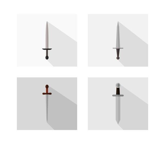 Icône d'épée sur fond blanc
