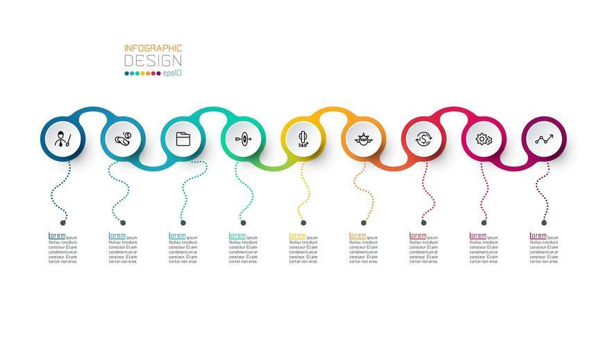 Cercle étiquette infographique vectoriel.