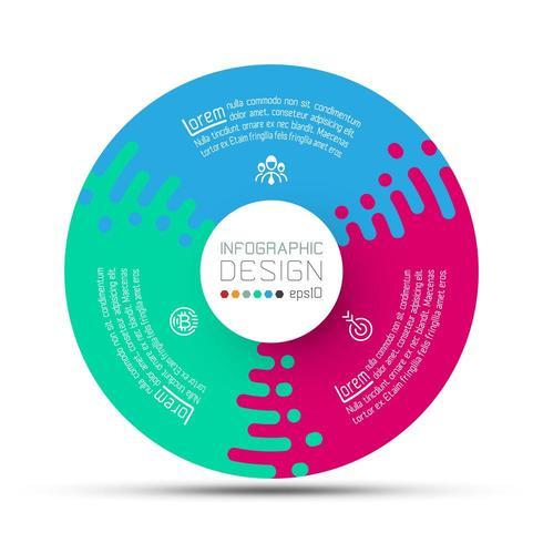 Geschäftskreisaufkleber formen infographic Gruppenstange. vektor