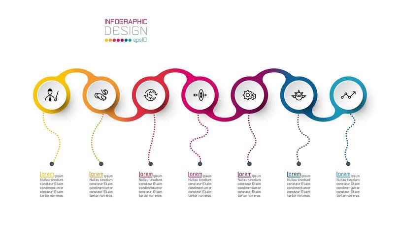Cirkel label infographic vector kunst.