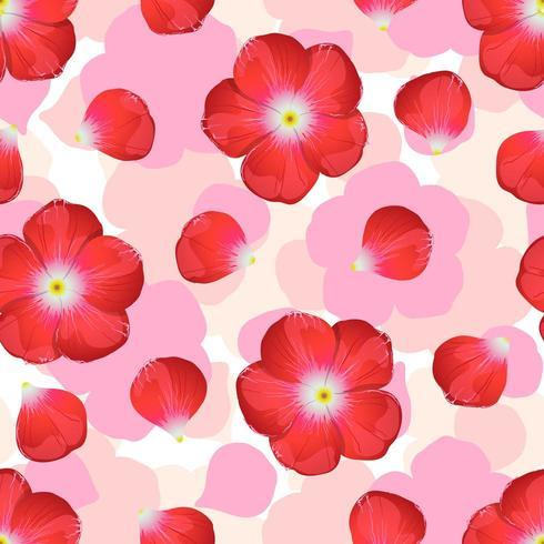Rode bloem op naadloze achtergrond. vector