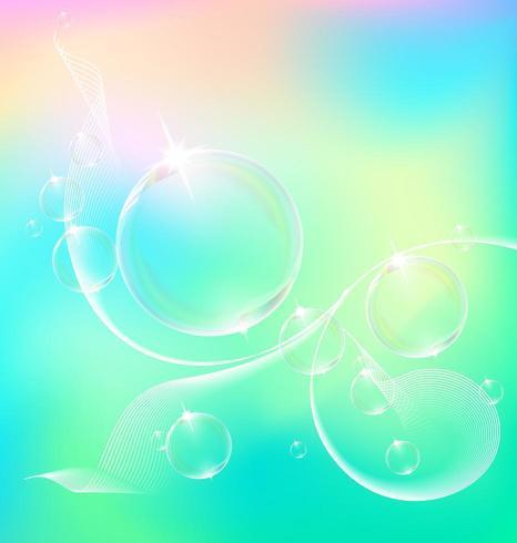 Transparente Blase auf Vektorgrafik. vektor