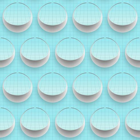 Abstracte naadloze achtergrond op papier snijden kunst. vector