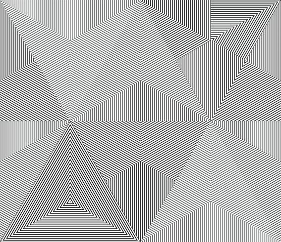 Geometrische monochrome lijn naadloze achtergrond. vector
