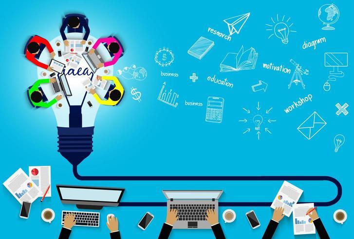 Geschäftstreffen Konzept Teamarbeit