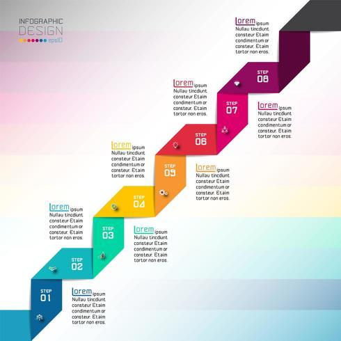 Modern ontwerpsjabloongebruik voor infographics, banner, etiketten. vector