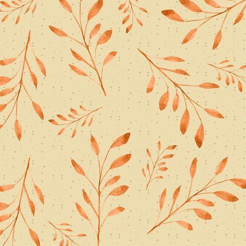 Oranje aquarel tak patroon vector