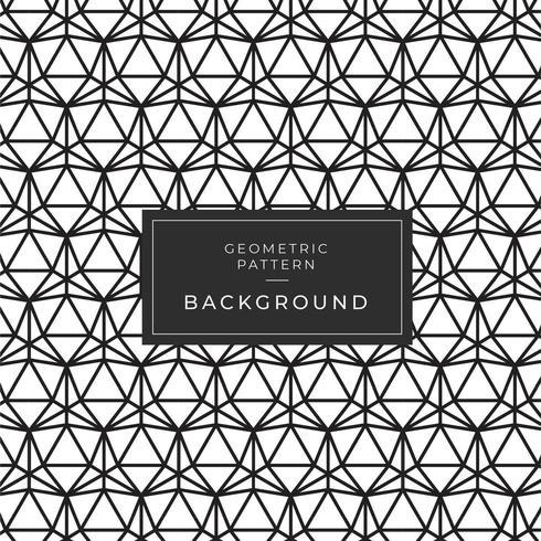 Zwart-wit monochroom driehoek mozaïekpatroon vector