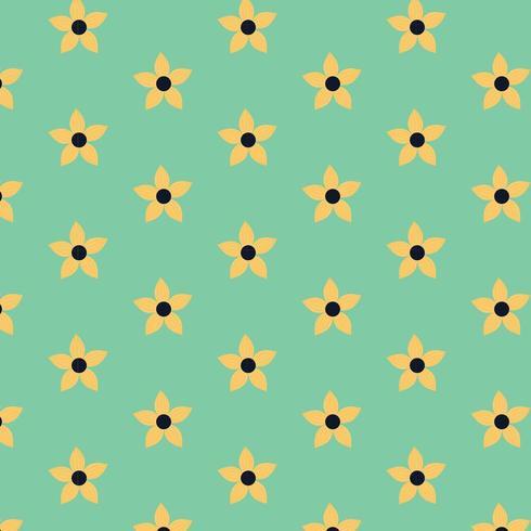 eenvoudig bloemenpatroon vector