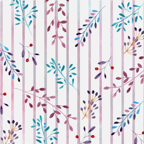 aquarel bloemmotief met strepen vector