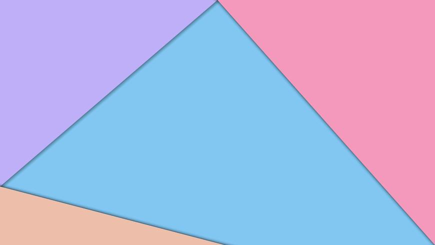Kleurrijk papier gesneden geometrisch behang vector
