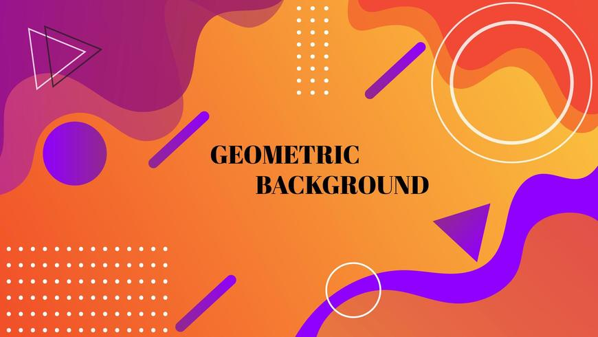 Oranje geometrisch abstract behang vector
