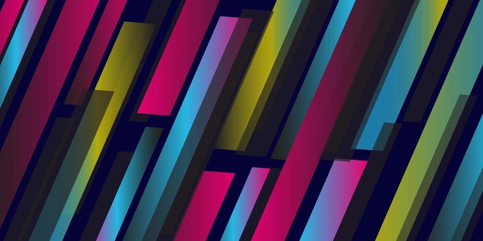Kleurrijk geometrisch lijnpatroon vector
