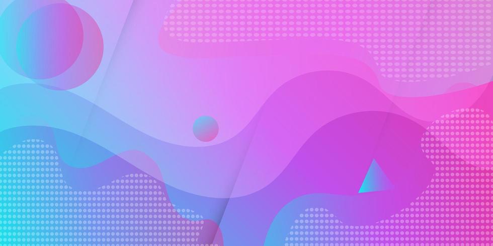 Roze paars geometrisch gradiënt vloeiend stijlbehang vector