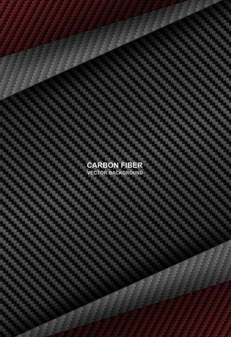 fond de chevauchement noir, fibre de carbone rouge vecteur