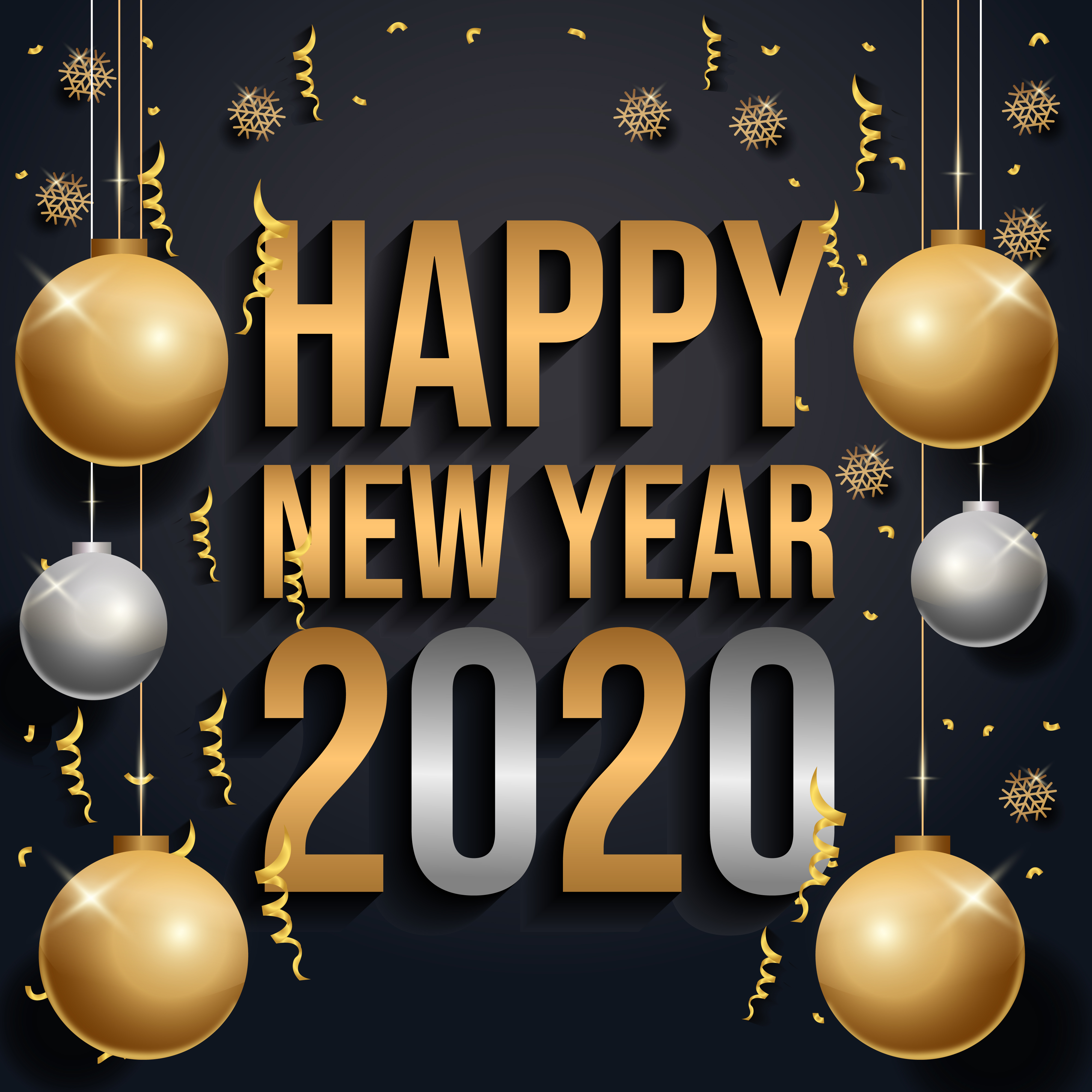 Happy new year 2020 - Download Free Vectors, Clipart ...
