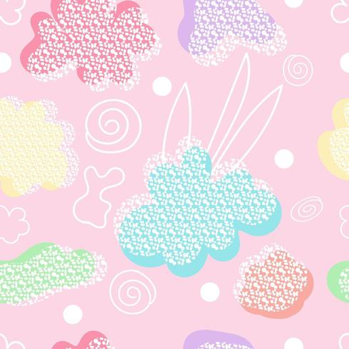 Abstract modern vormenpatroon met pastelkleuren vector