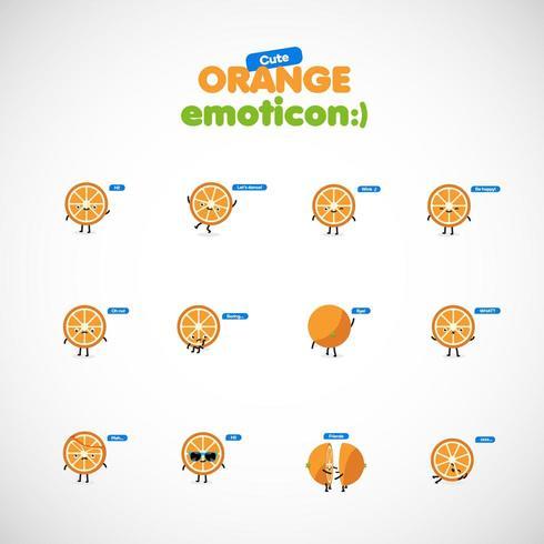 Leuke oraneg emoticon, vectorillustratie vector