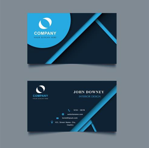 Moderne kreative Visitenkarte-Schablone Doppeltes versah mit Seiten