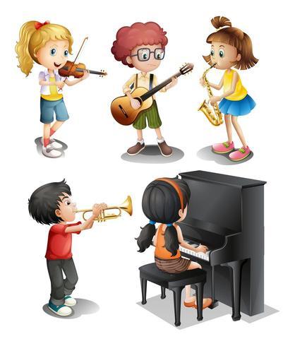 Niños con talento musical
