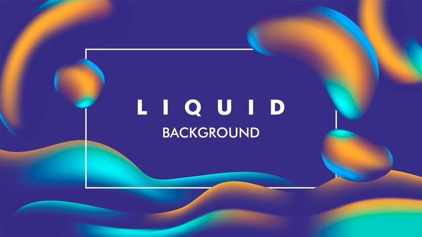 colorful blue and yellow Liquid illustration