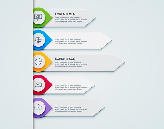 Infographic Schablone des Geschäfts das Konzept