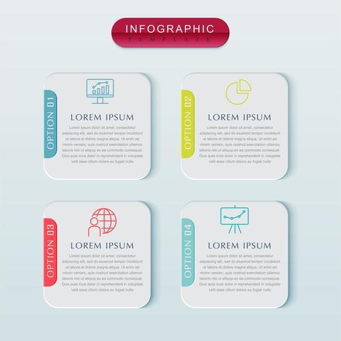 Infographik Vorlage Geschäftskonzept. Vektor-Design