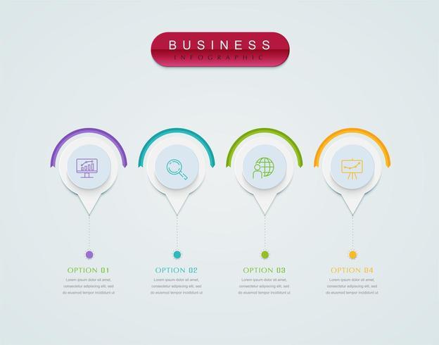 Infografiken Business Design Präsentationsvorlage. Gestaltungselement
