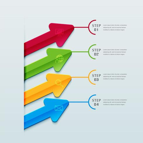 Infografiken Business Design Präsentationsvorlage