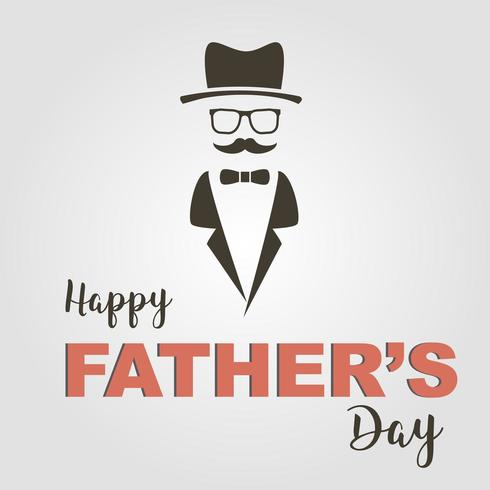 Lycklig fars dag med ansikte och mustasch