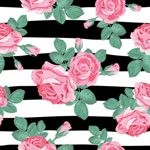 Modèle sans couture floral rétro.