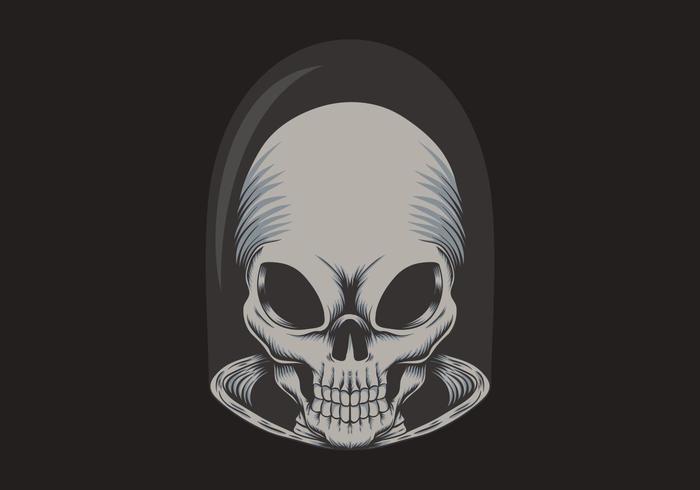 Ilustração de caveira alienígena