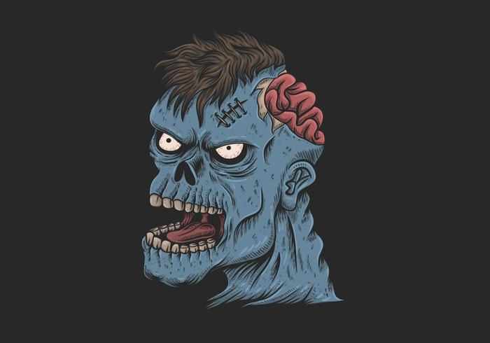 zombie head illustration vector