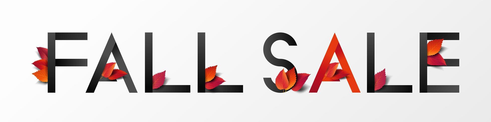 Höst hösten försäljning banner