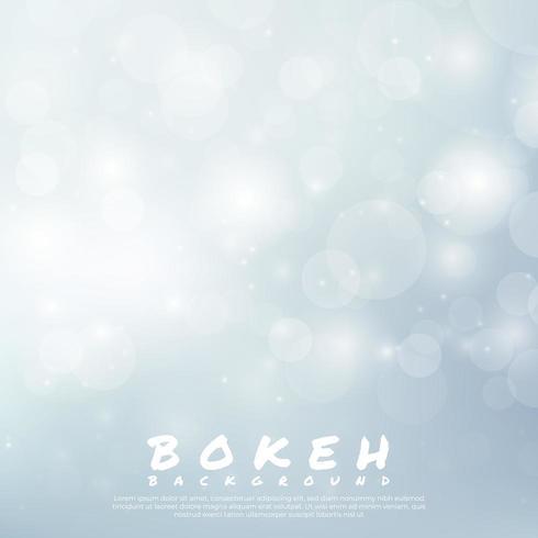 Diseño de luz blanca de fondo Bokeh