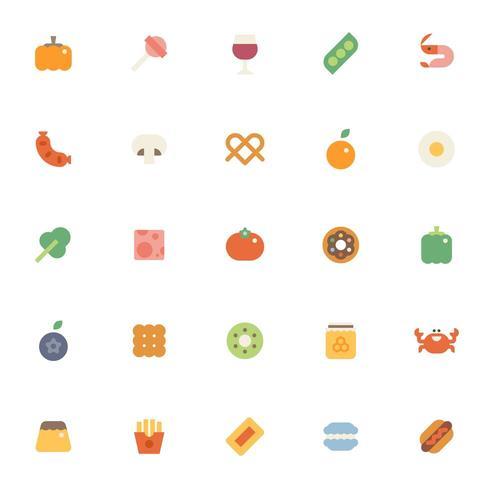 Verschillende voedsel pictogrammen collectie set.