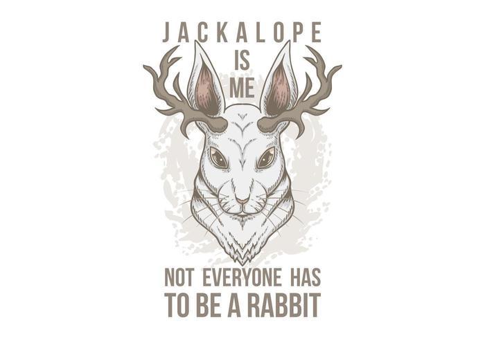 Ilustración de cabeza de Jackalope