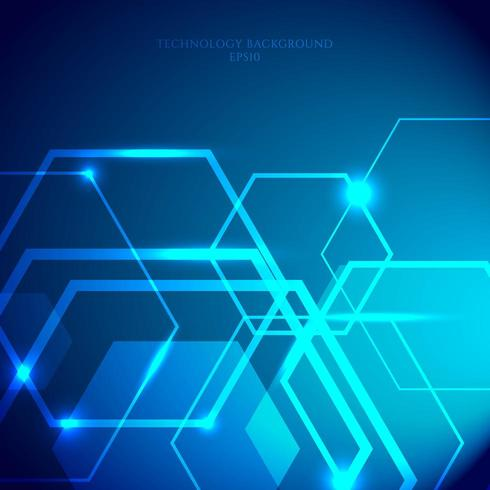 Technologie-Sechseck-Muster