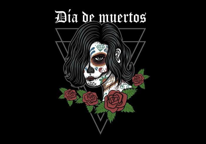 Dia de Muertos Frau Abbildung