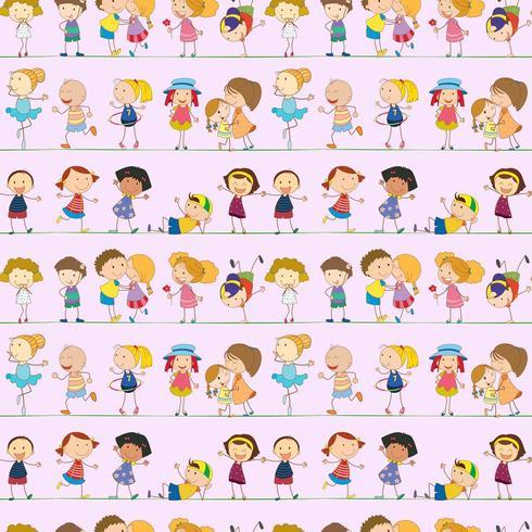 Nahtloses Design mit Kindern