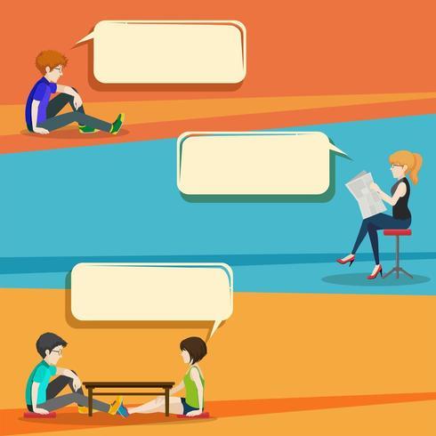 Gesprächsstil Infografik mit Menschen