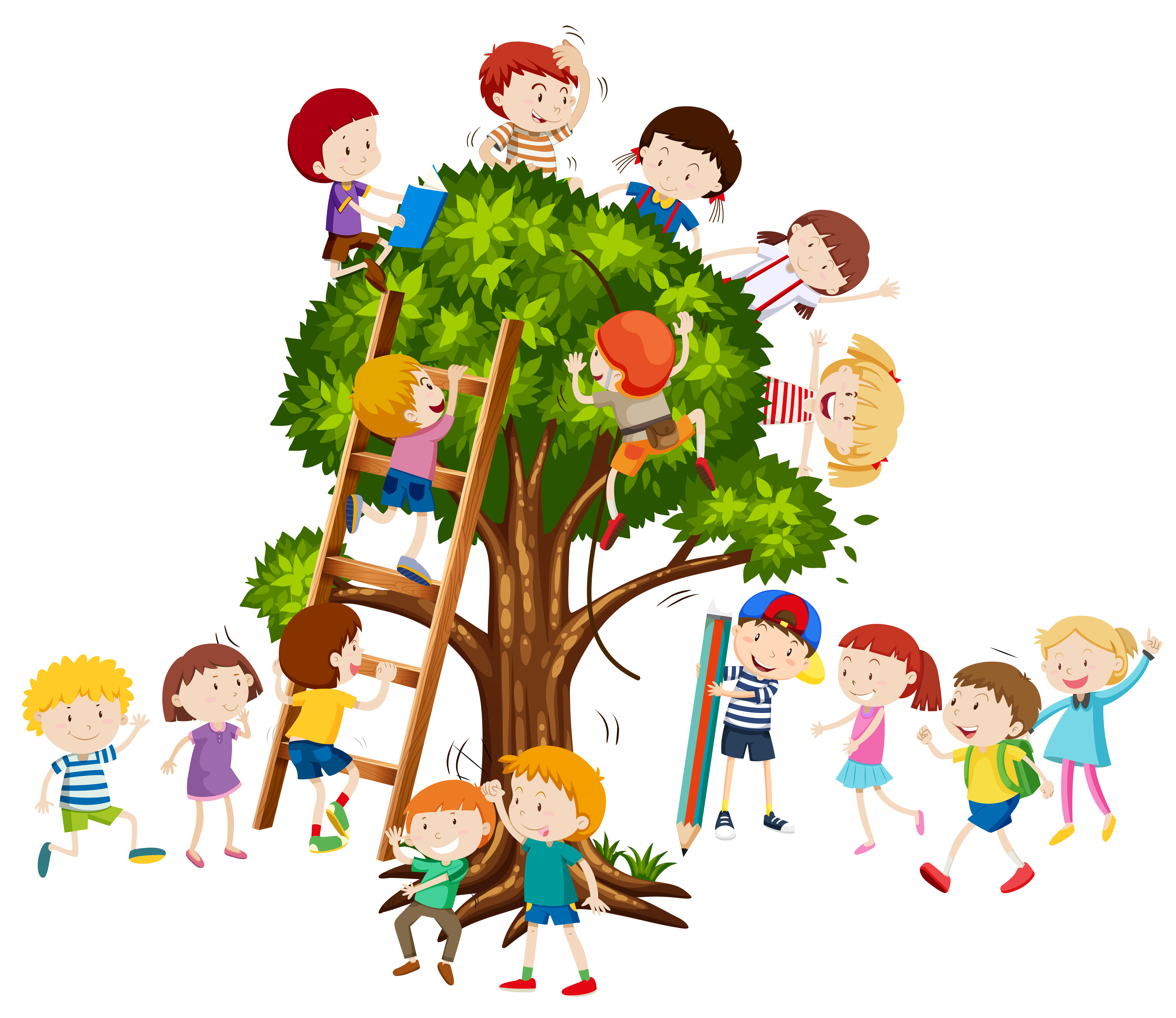 Children Climbing Up The Tree Download Free Vectors Clipart Graphics Vector Art Some bloke wants to know if we've carried out a thorough risk assessment? vecteezy