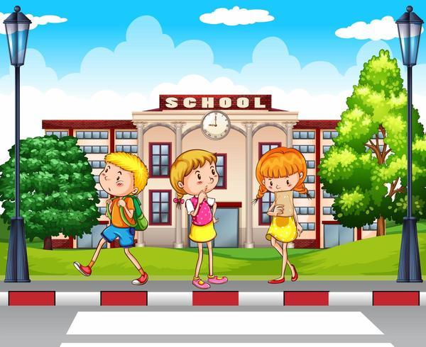 Les étudiants vont à l'école