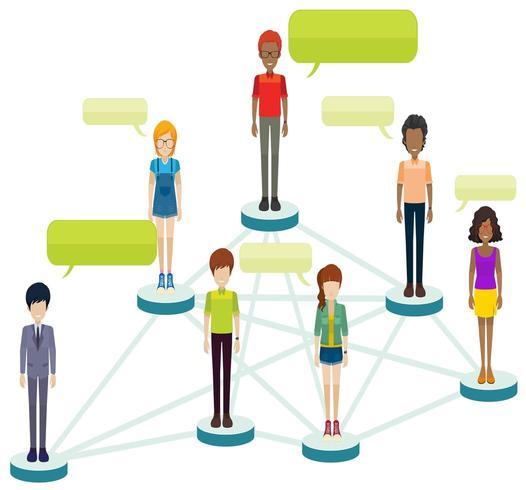 Netzwerke von Personen mit Hinweisen